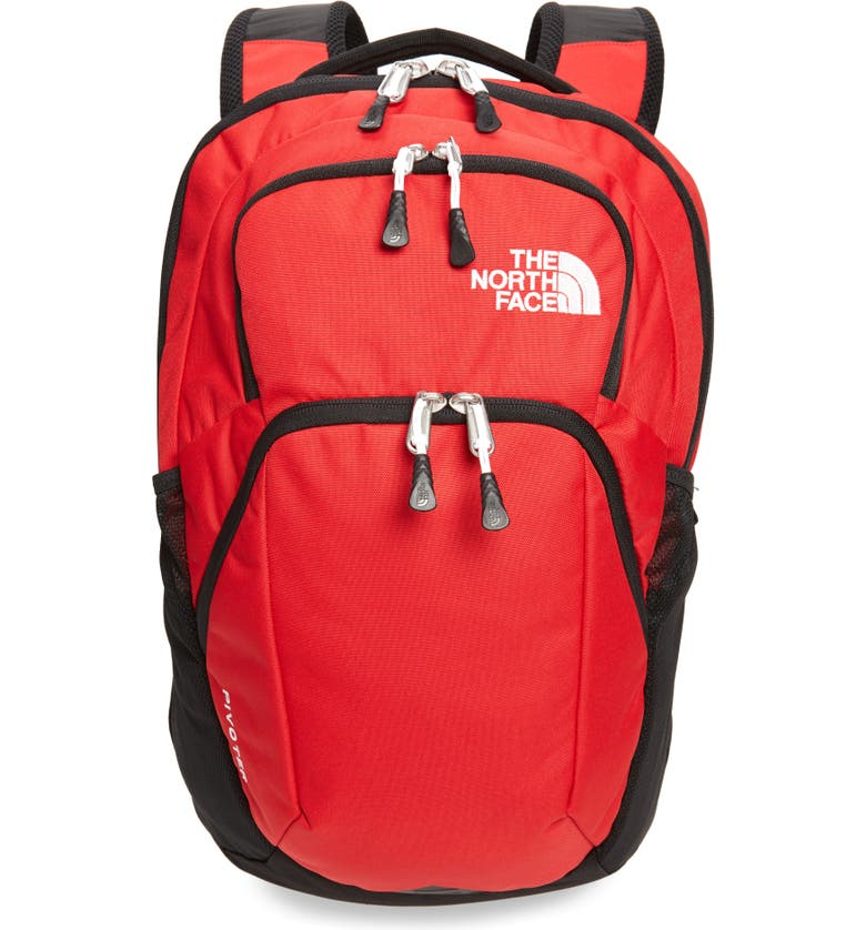 THE NORTH FACE Pivoter Backpack, Main, color, TNF RED/ TNF BLACK