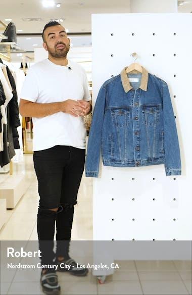 Corduroy Collar Classic Fit Denim Jacket, sales video thumbnail