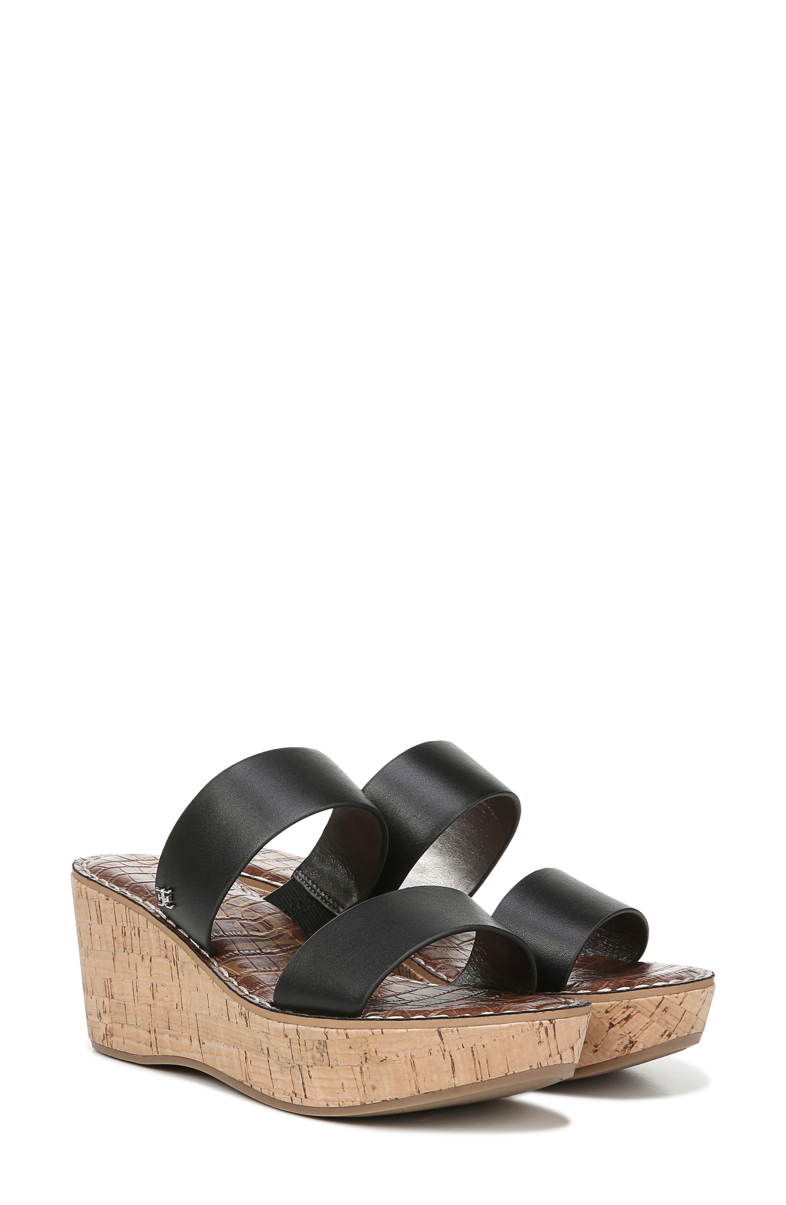 ,                             Rydell Platform Slide Sandal,                             Alternate thumbnail 8, color,                             BLACK LEATHER