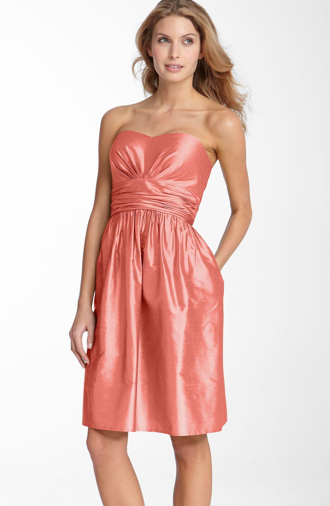 ,                             Silk Shantung Dress,                             Main thumbnail 11, color,                             950