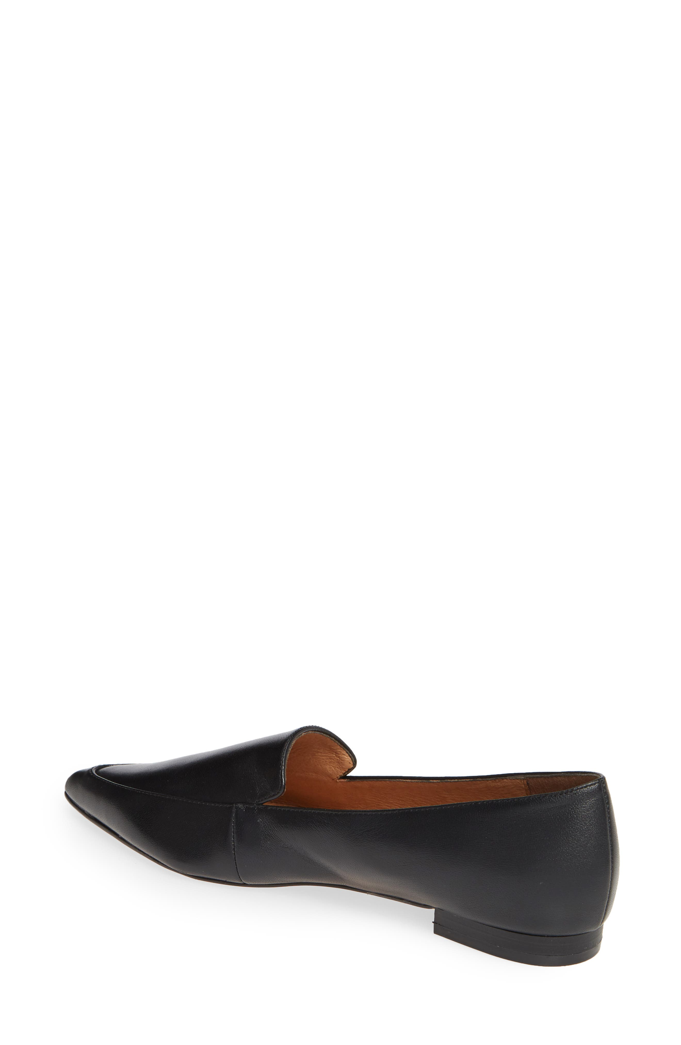 ,                             Kendra Pointy Toe Loafer,                             Alternate thumbnail 2, color,                             BLACK LEATHER