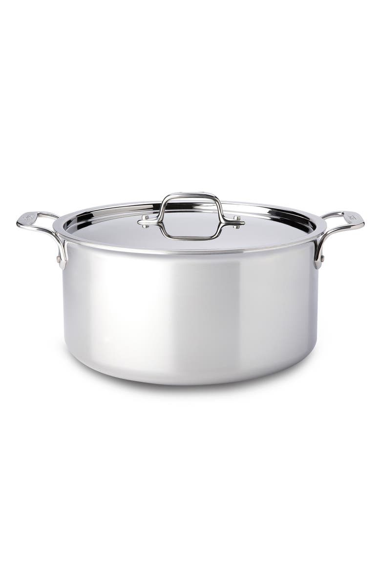 ALL-CLAD 8-Quart Stainless Steel Stockpot, Main, color, SILVER