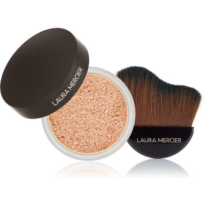 Laura Mercier Translucent Loose Setting Powder & Glow Powder Brush Set - No Color