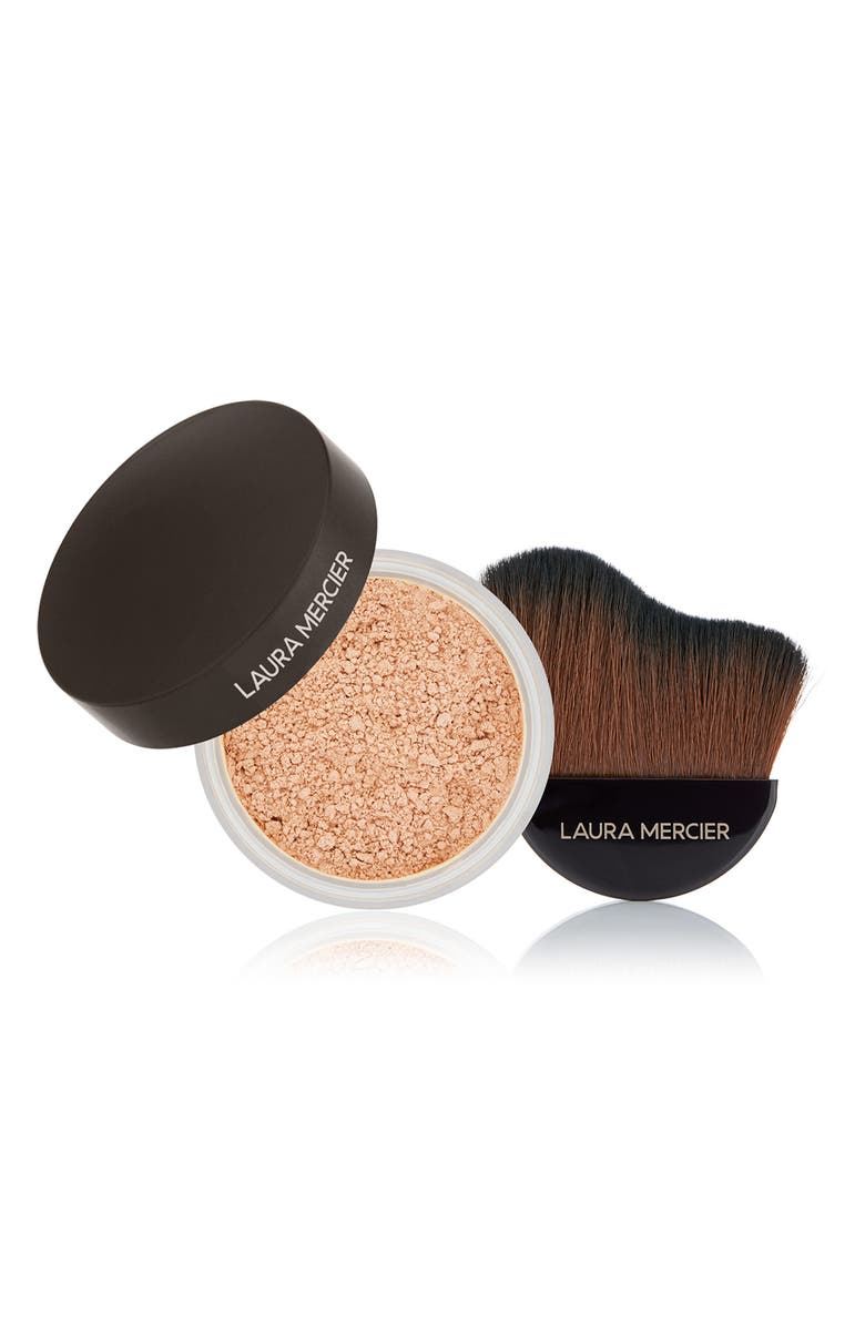 LAURA MERCIER Translucent Loose Setting Powder & Glow Powder Brush Set, Main, color, NO COLOR