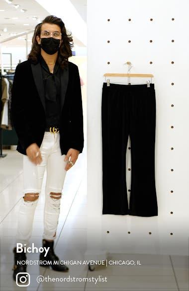 Athena Velvet Flare Crop Pants, sales video thumbnail