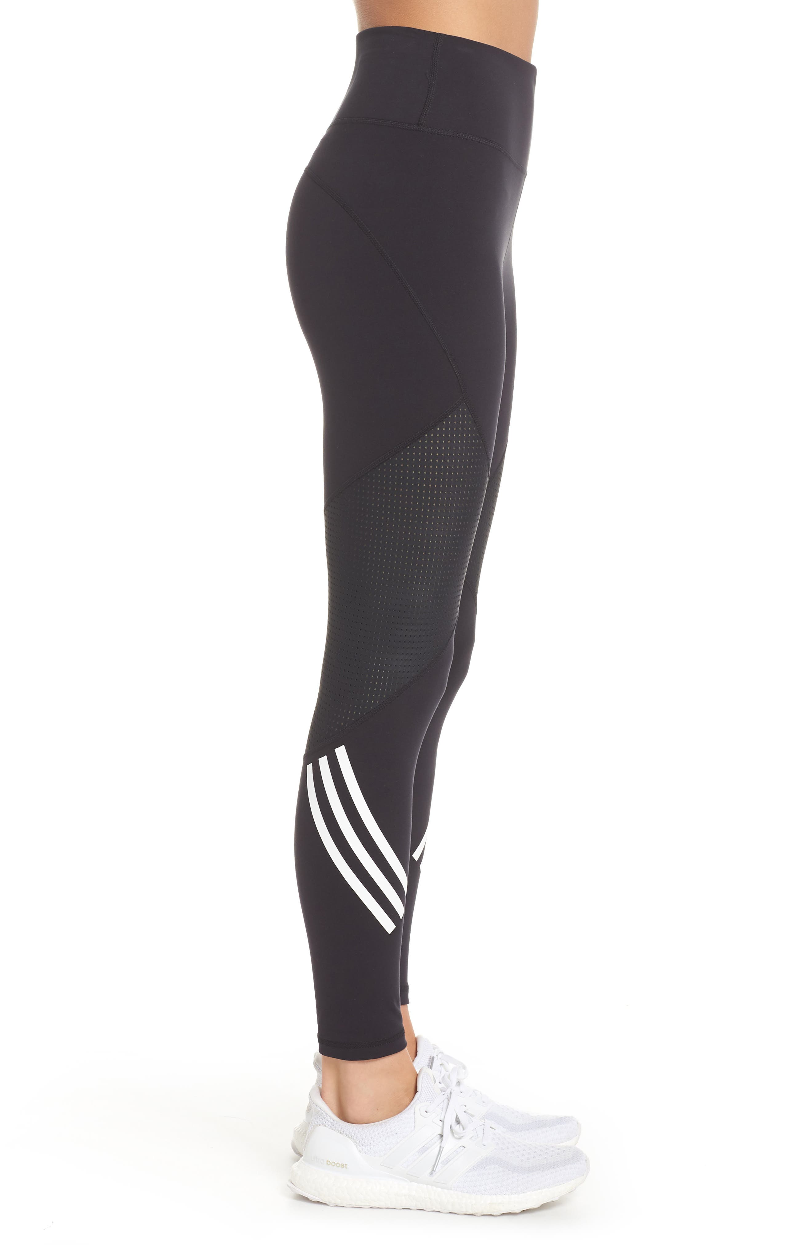 ,                             Believe This High Waist 7/8 Tights,                             Alternate thumbnail 4, color,                             BLACK/ WHITE