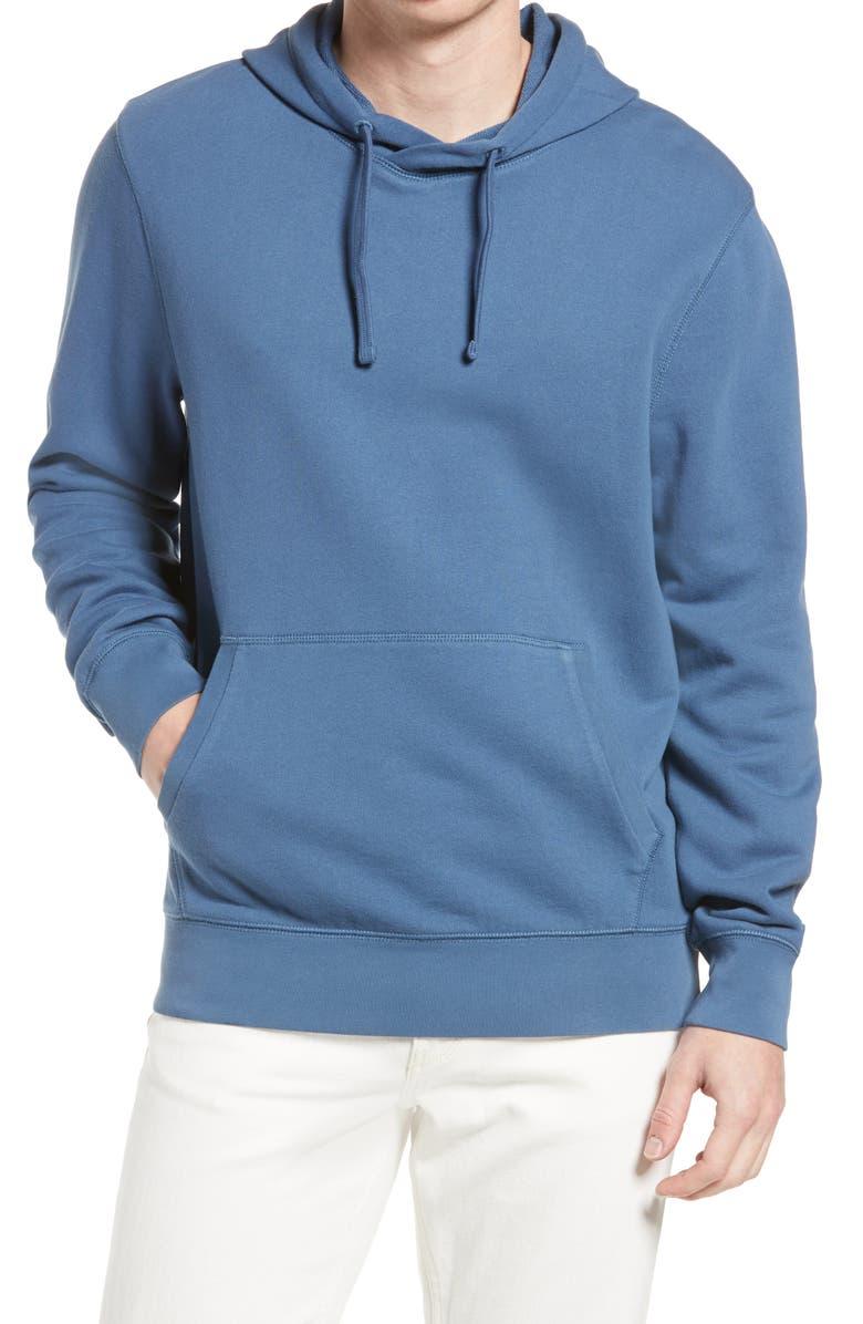 TREASURE & BOND Cotton Hoodie, Main, color, BLUE ENSIGN