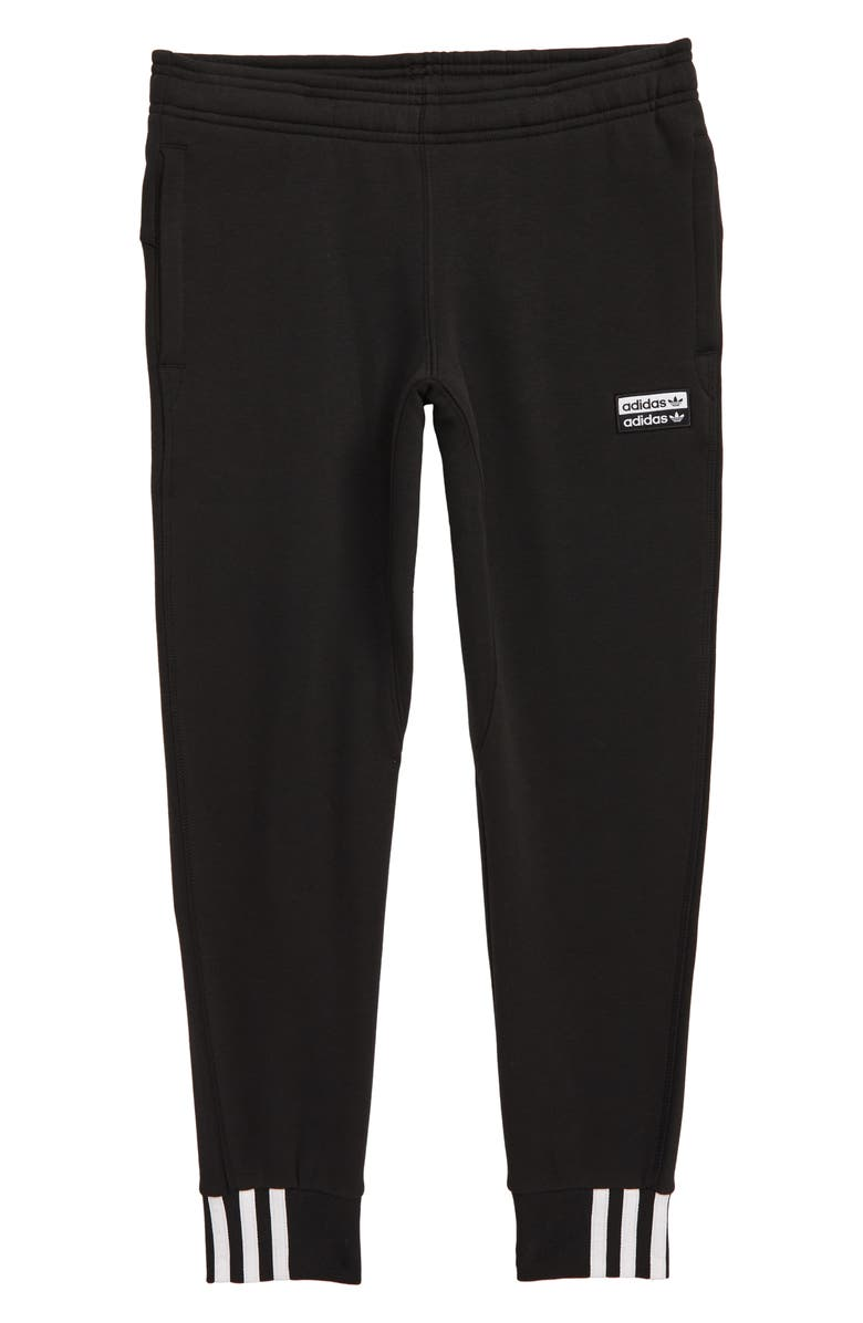 ADIDAS ORIGINALS adidas V-Ocal Fleece Sweatpants, Main, color, BLACK