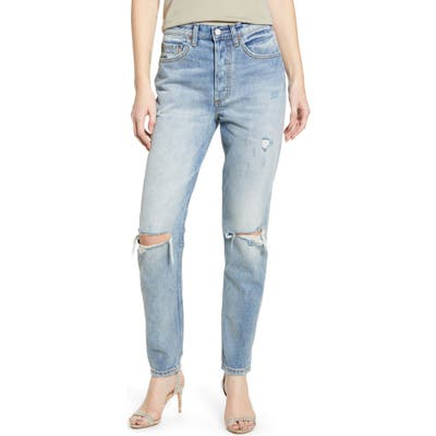 Boyish Jeans The Billy Ripped High Waist Ankle Skinny Jeans, Blue