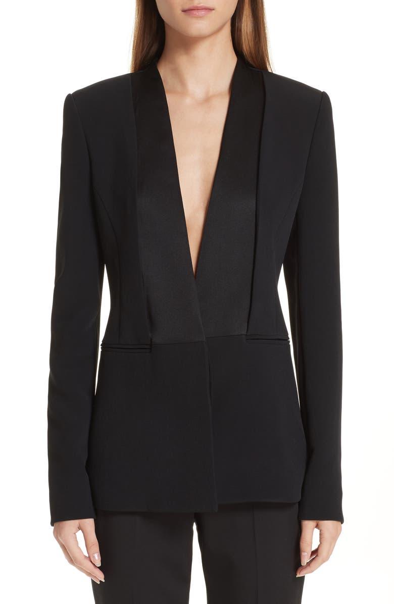 CUSHNIE Shawl Collar Blazer, Main, color, 001