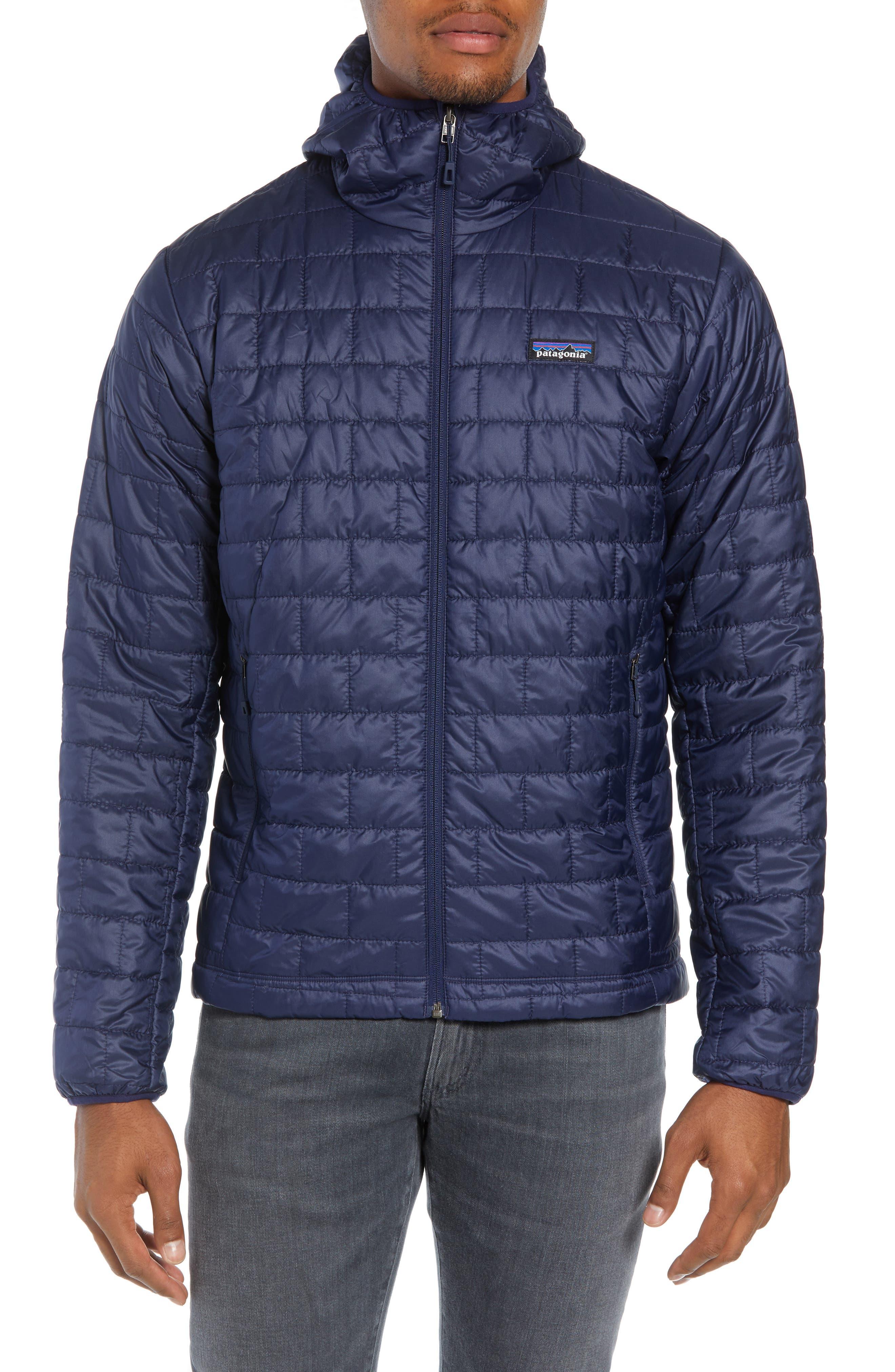 Patagonia Nano Puff Hooded Jacket, Blue
