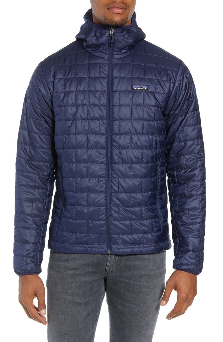 PATAGONIA Nano Puff<sup>®</sup> Hooded Jacket, Main, color, CLASSIC NAVY
