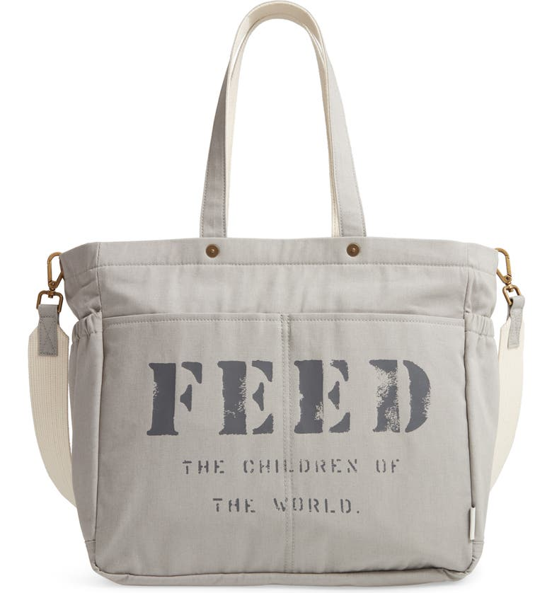 FEED Diaper Bag, Main, color, GRAY
