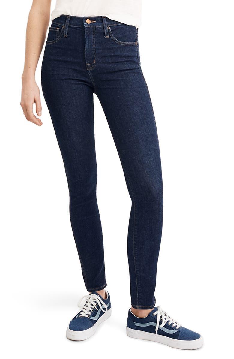 MADEWELL 10-Inch High Waist Skinny Jeans, Main, color, 400