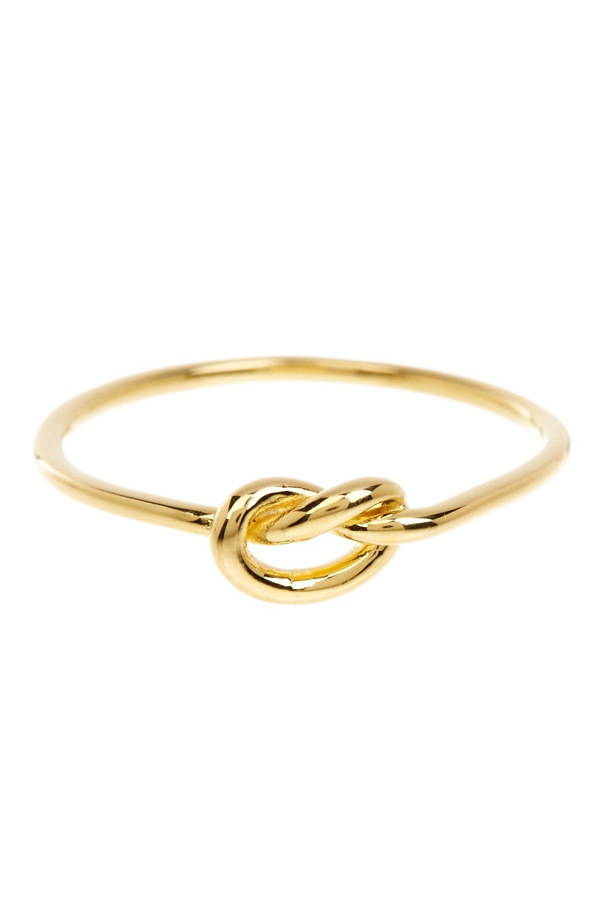 Image of Sterling Forever 14K Yellow Gold Vermeil Thin Love Knot Ring
