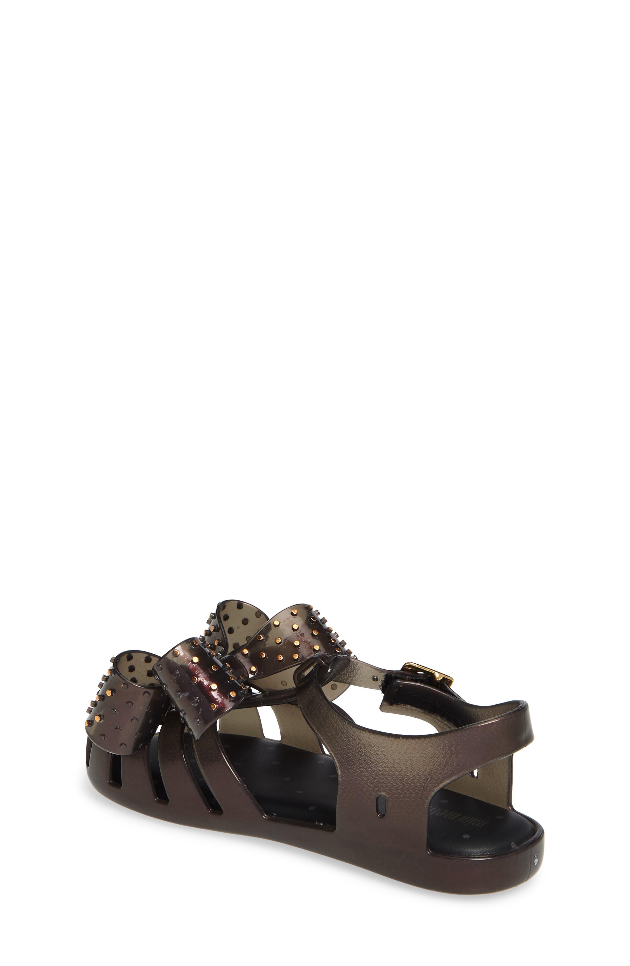 ,                             Aranha XIII Bow T-Strap Sandal,                             Alternate thumbnail 2, color,                             BLACK IRIDESCENT