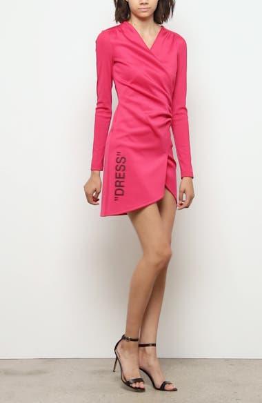 Ribbed Long Sleeve Minidress, video thumbnail