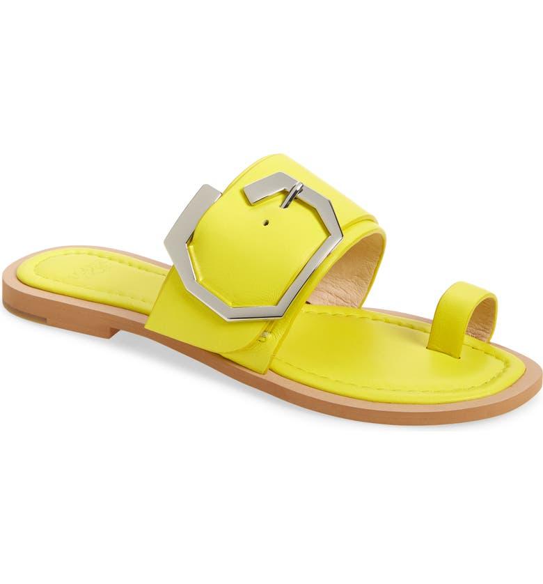 LOUISE ET CIE Altan Sandal, Main, color, FLUORESCENT YELLOW LEATHER