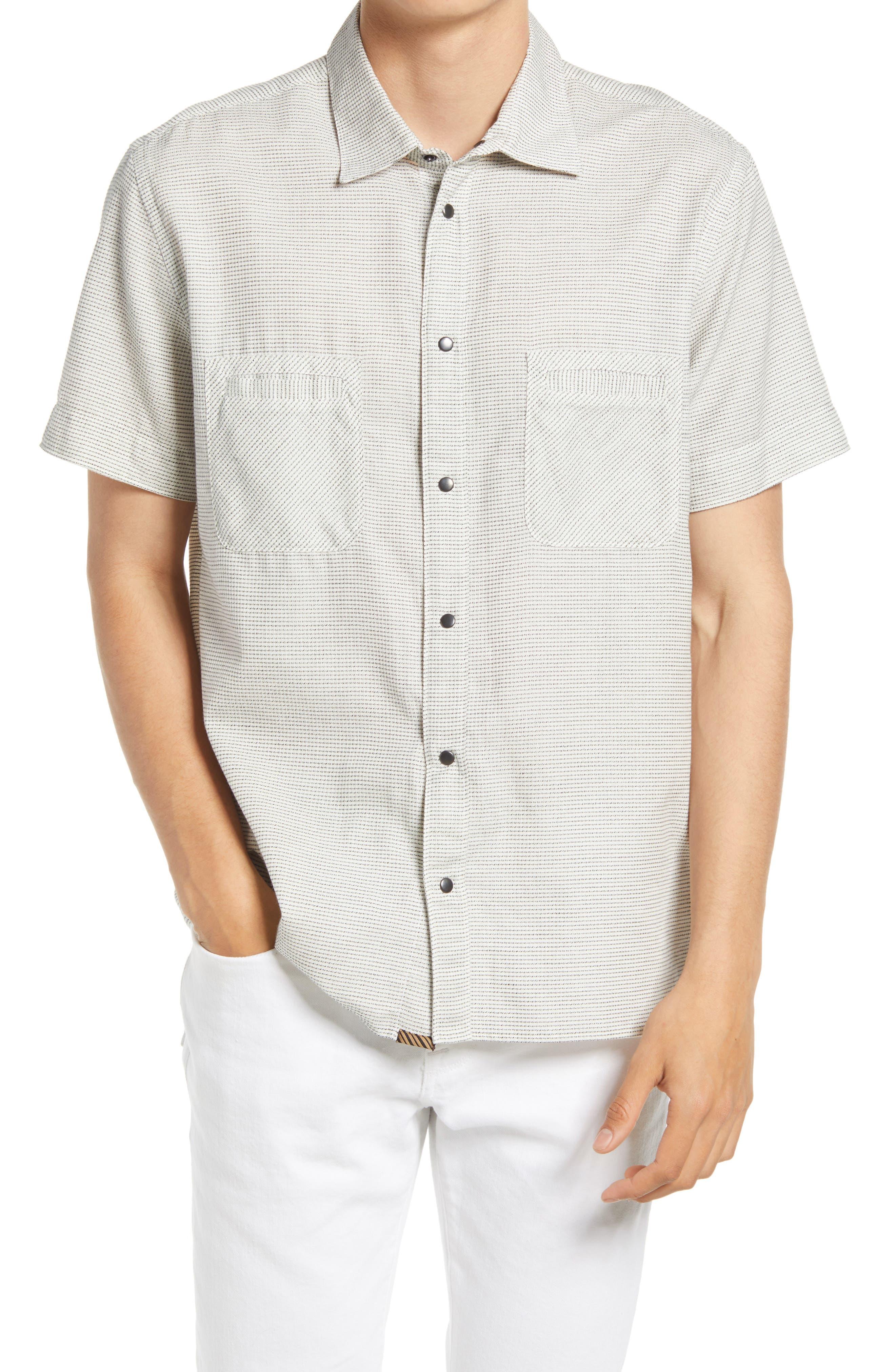 Tuscumbia Short Sleeve Cotton Button-Down Shirt