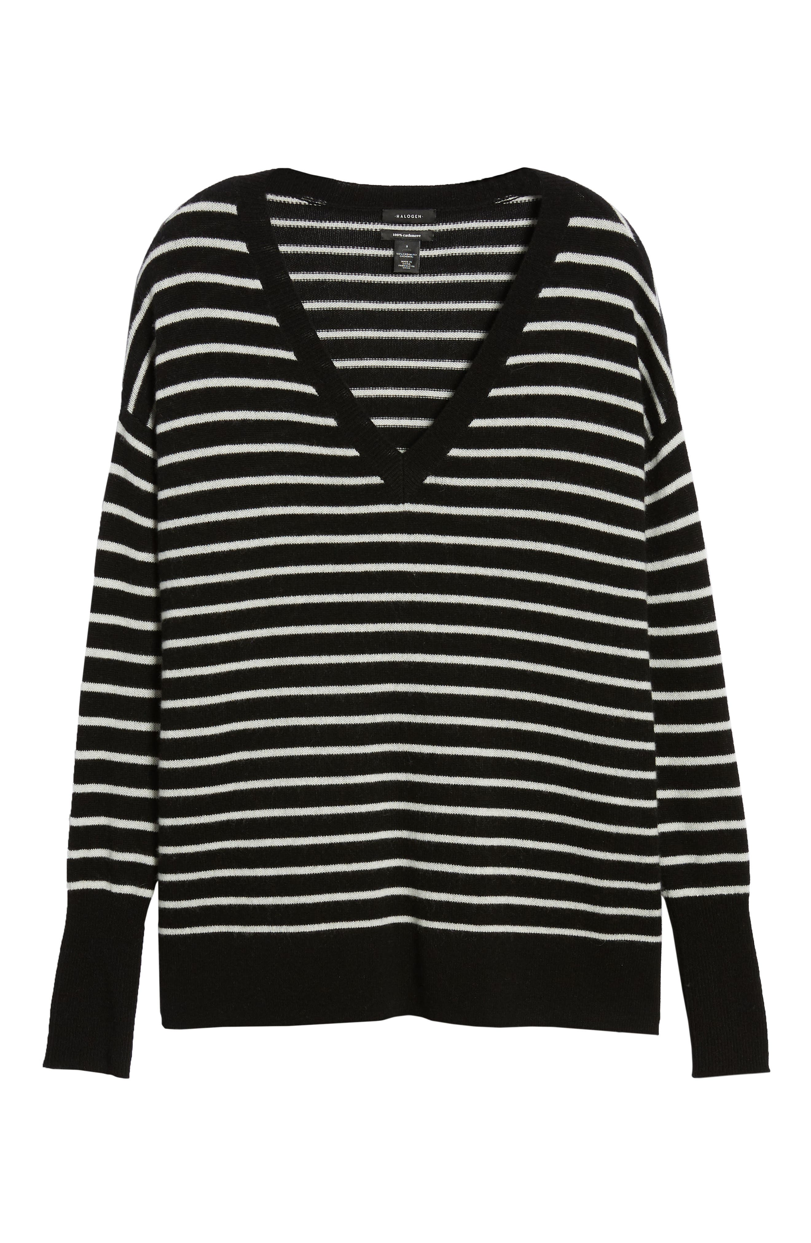 ,                             Relaxed V-Neck Cashmere Sweater,                             Alternate thumbnail 20, color,                             002