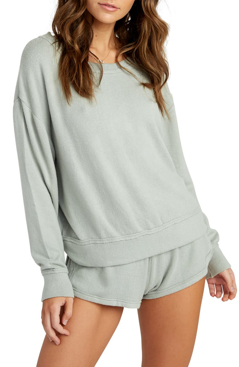 RVCA Daydream Sweatshirt, Main, color, SAGE