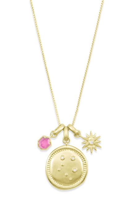 Image of Kendra Scott 14K Gold Plated Libra Charm Necklace