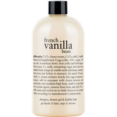 Philosophy French Vanilla Bean Shampoo, Shower Gel & Bubble Bath