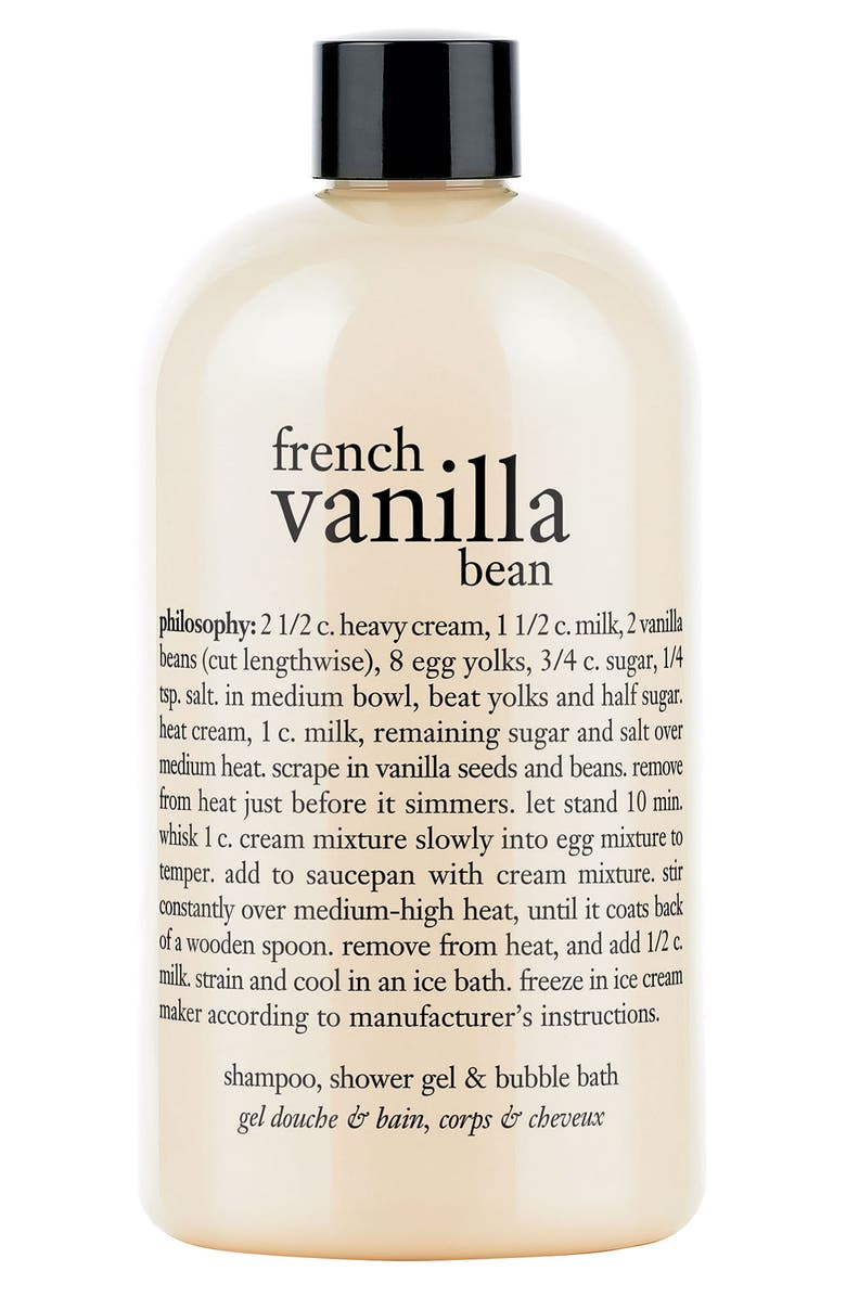 PHILOSOPHY french vanilla bean shampoo, shower gel & bubble bath, Main, color, NO COLOR