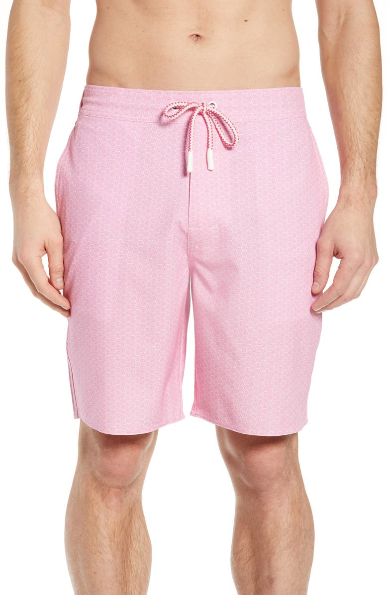 JOHNNIE-O Folly Regular Fit Board Shorts, Main, color, CORAL REEFER