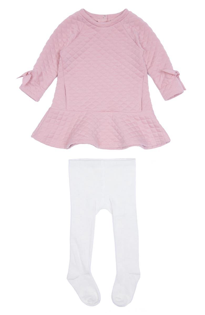 HABITUAL Waverly Sweater Dress & Tights, Main, color, LIGHT PINK