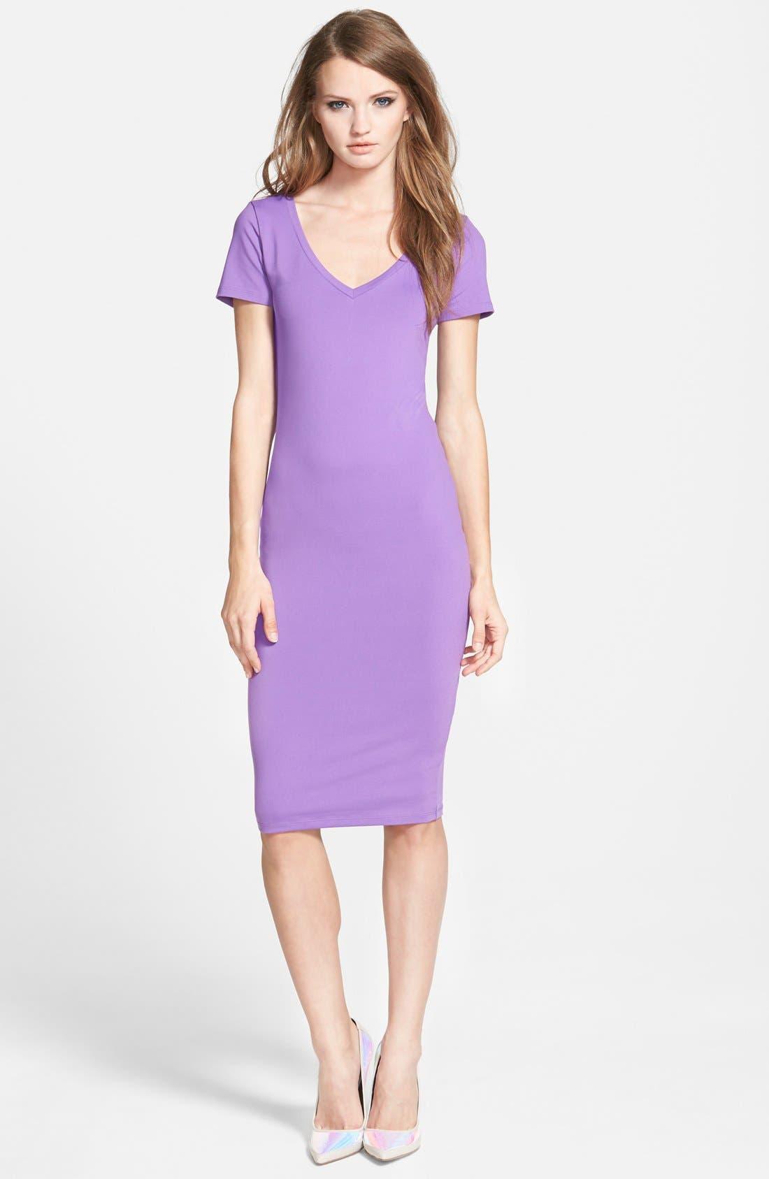 ,                             V-Neck Body-Con Dress,                             Main thumbnail 17, color,                             510