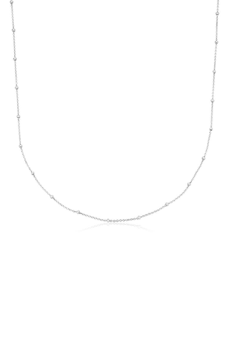 MONICA VINADER 21-Inch Fine Beaded Chain, Main, color, SILVER