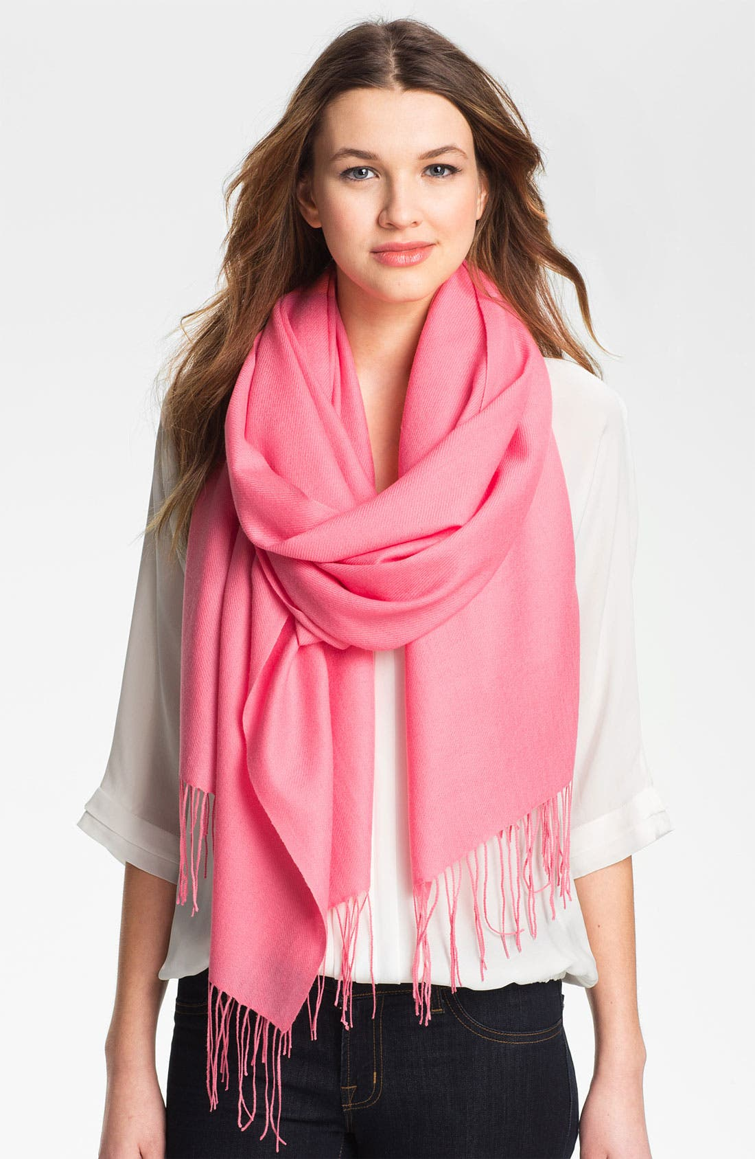 ,                             Tissue Weight Wool & Cashmere Wrap,                             Main thumbnail 183, color,                             670