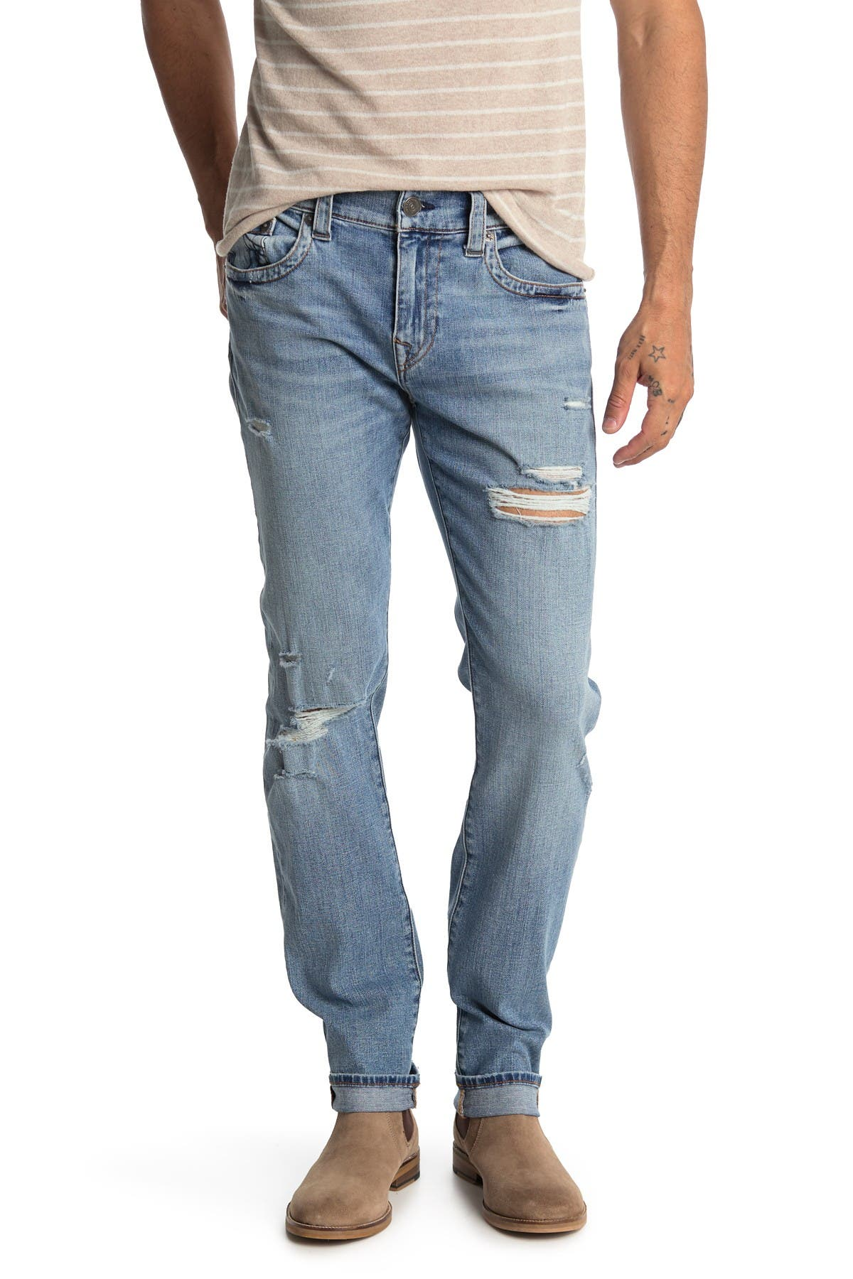 Image of True Religion Rocco No Flap Straight Leg Jeans