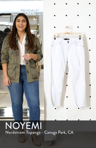 Amy Crop White Jeans, sales video thumbnail