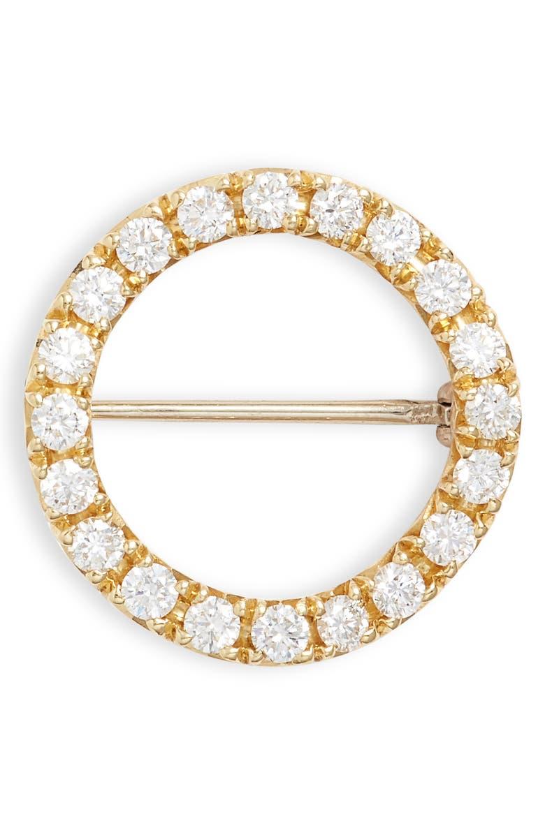 BONY LEVY 20th Anniversary Large Diamond Circle Pin, Main, color, 710