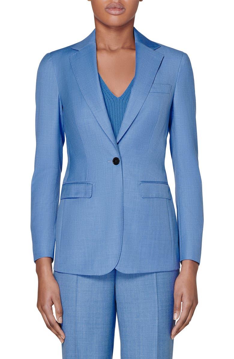 SUISTUDIO Cameron Wool Suit Jacket, Main, color, LIGHT BLUE