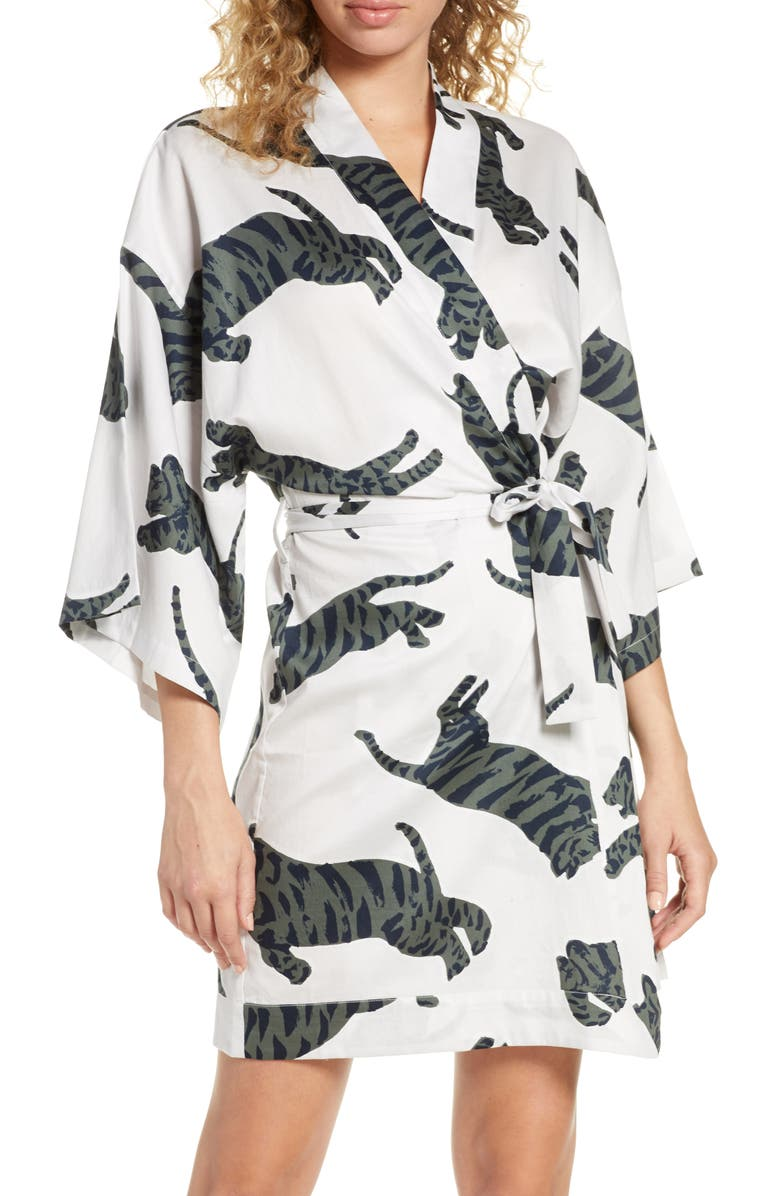 CHALMERS Margaux Short Cotton Robe, Main, color, 020