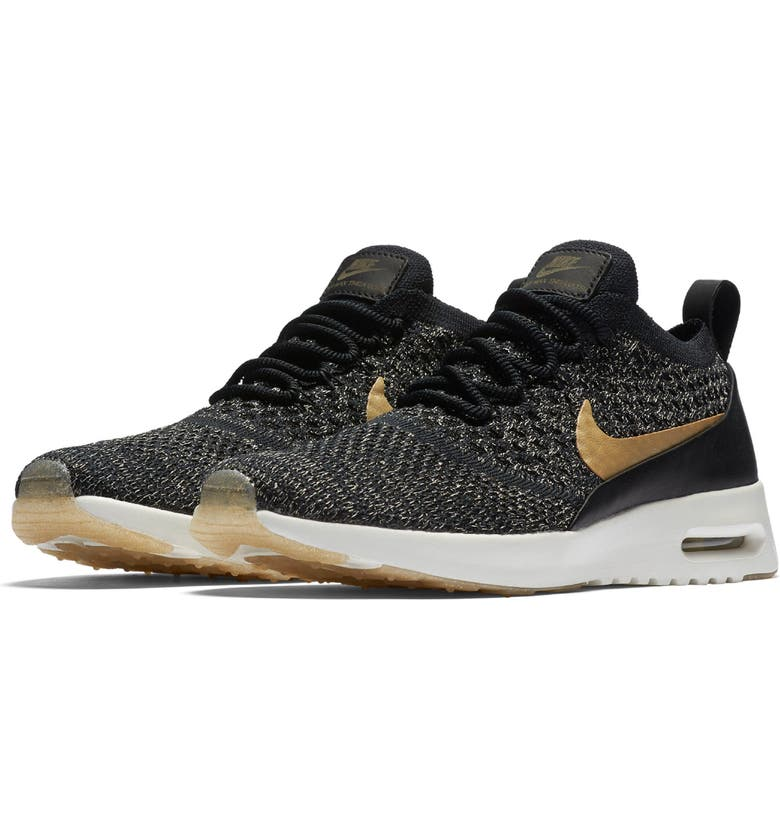 Nike Air Max Thea Ultra Flyknit Metallic Sneaker (Women