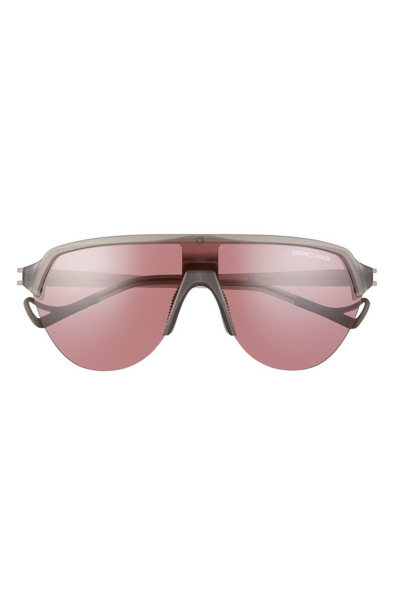 DISTRICT VISION Nagata 133mm Performance Sunglasses, Main, color, BLACK ROSE