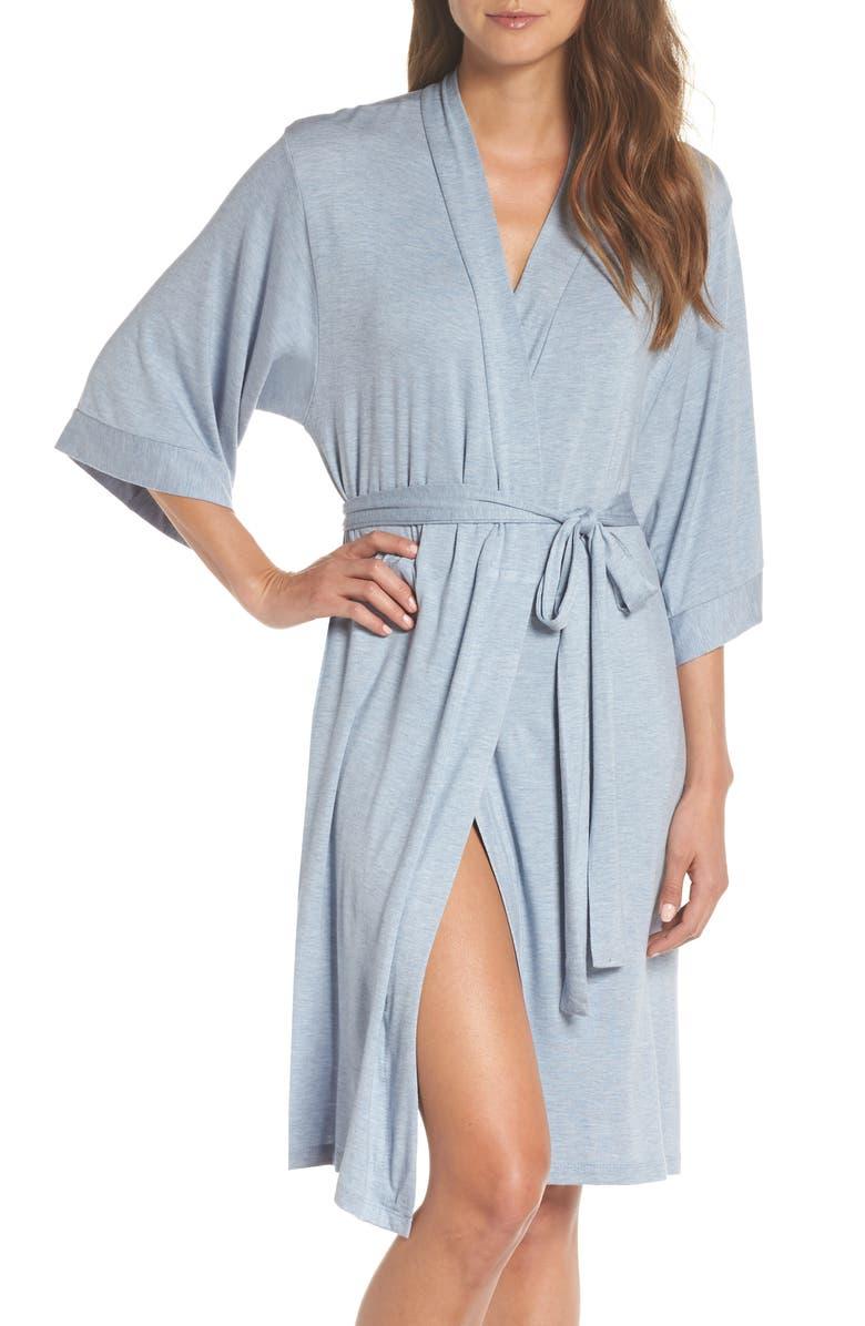 PAPINELLE Short Robe, Main, color, POWDER BLUE