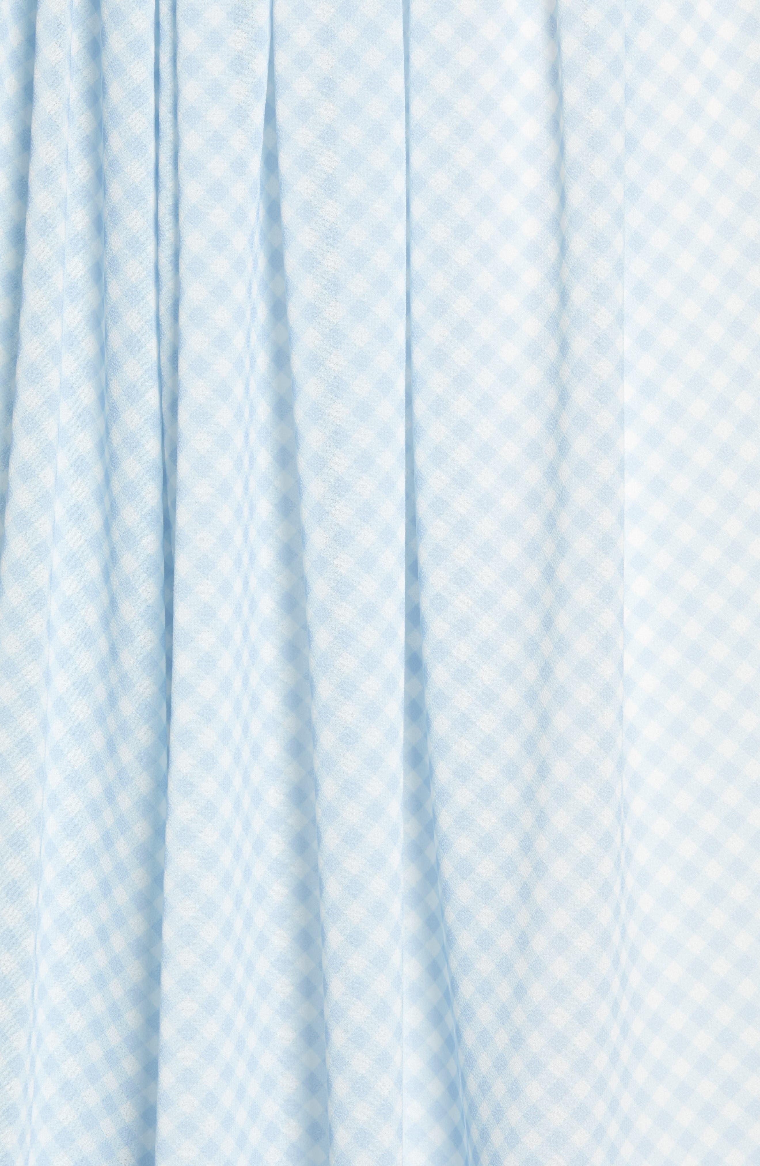 ,                             Gingham Puff Sleeve Dress,                             Alternate thumbnail 8, color,                             BLUE SKYWAY GINGHAM