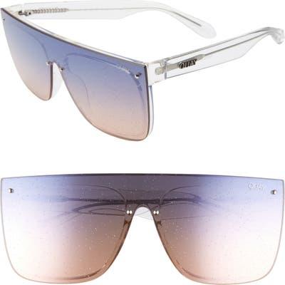 Quay Australia X Lizzo Jaded 14m Flat Top Sunglasses - Clear/ Navy Peach