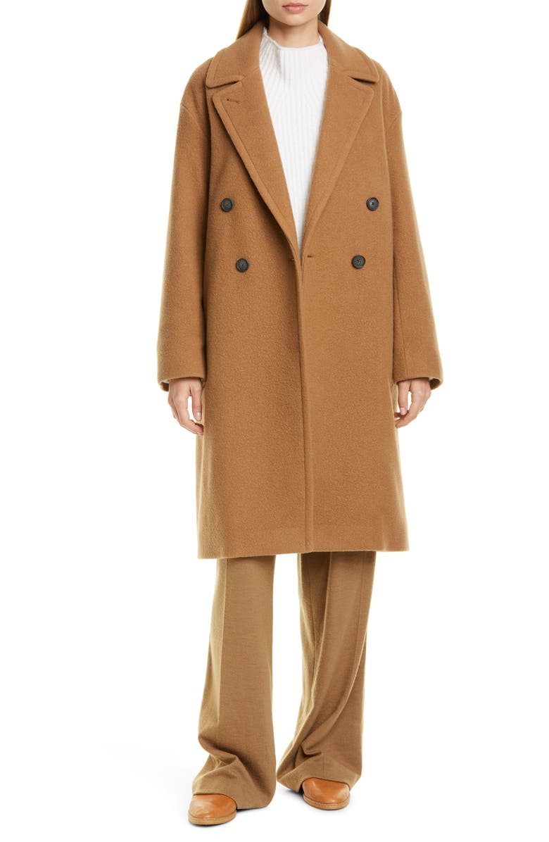 VINCE Double Breasted Wool Blend Coat, Main, color, AMBRETTE
