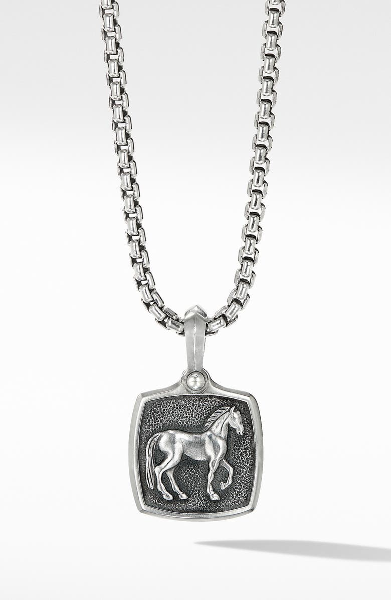 DAVID YURMAN Petrvs<sup>®</sup> Horse Amulet Enhancer, Main, color, SILVER
