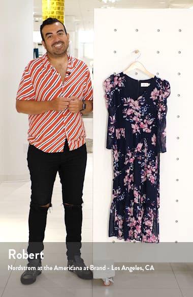 Floral Ruffle Hem Dress, sales video thumbnail