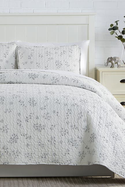 Image of SOUTHSHORE FINE LINENS Sweet Florals Oversized Quilt Sets - Full/Queen