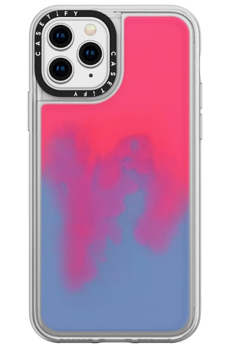 CASETIFY Neon Sand iPhone 11/11 Pro Max Case, Main, color, HOTLINE