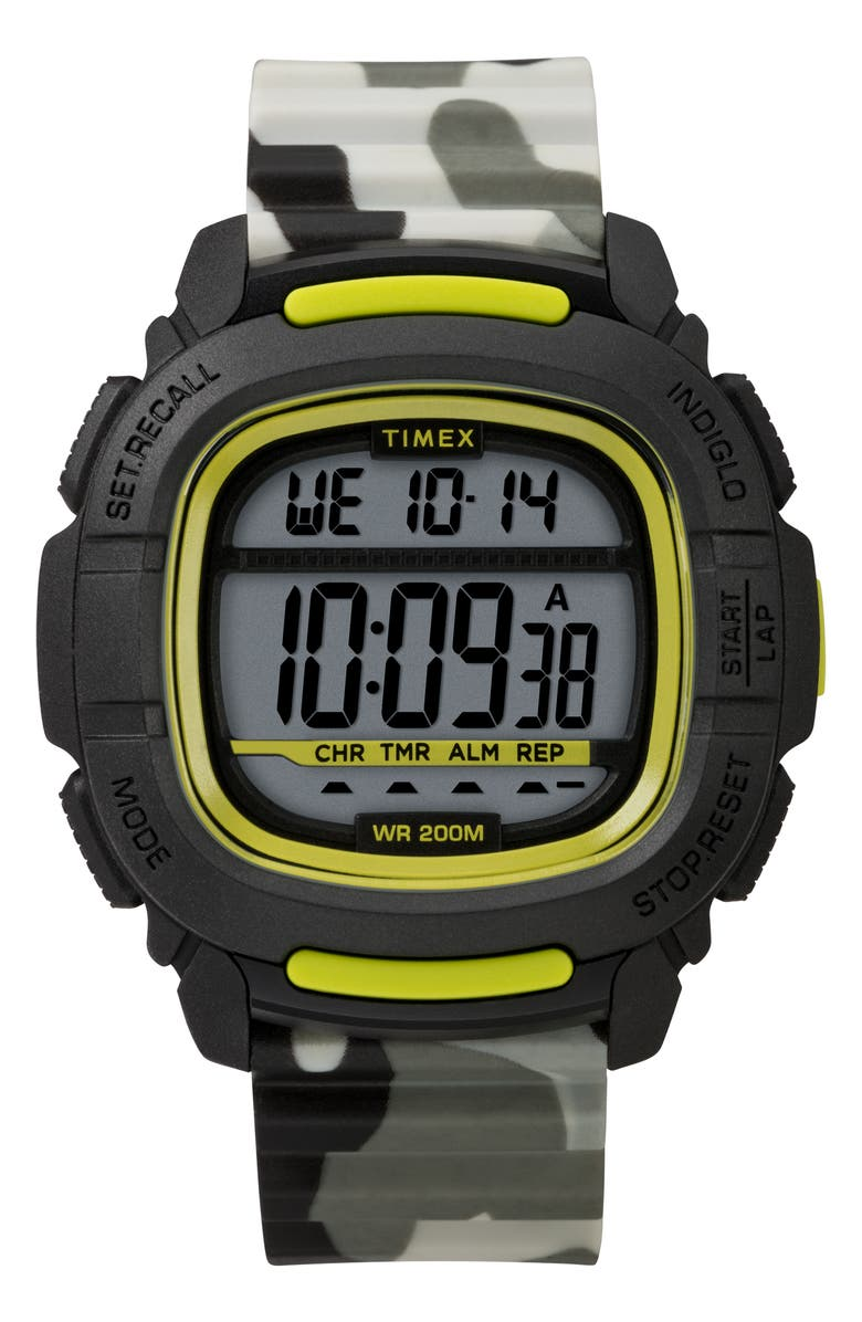 TIMEX<SUP>®</SUP> Boost Shock Resistant Digital Silicone Strap Watch, 47mm, Main, color, 020