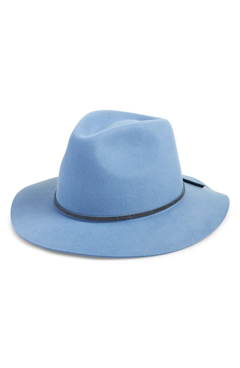 BRIXTON 'Wesley' WoolFedora, Main, color, CASA BLANCA BLUE